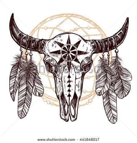 Pin On Bison Tattoo Flash