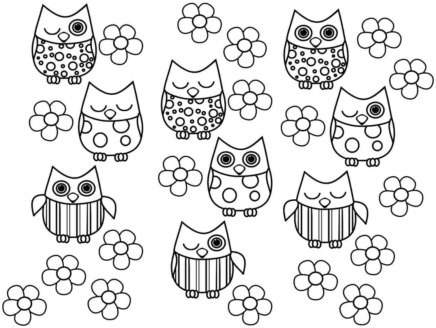 Print Full Size Image Free Colouring Sheets Animal Owl