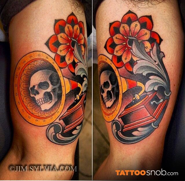 Tattoo by jim sylvia i love the filagree and flower them for Jim sylvia unbreakable tattoo