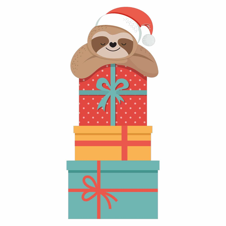 Christmas Sloth 2 Iron On Transfer Gm Crafts Christmas Sloth Cute Christmas Wallpaper Sloth