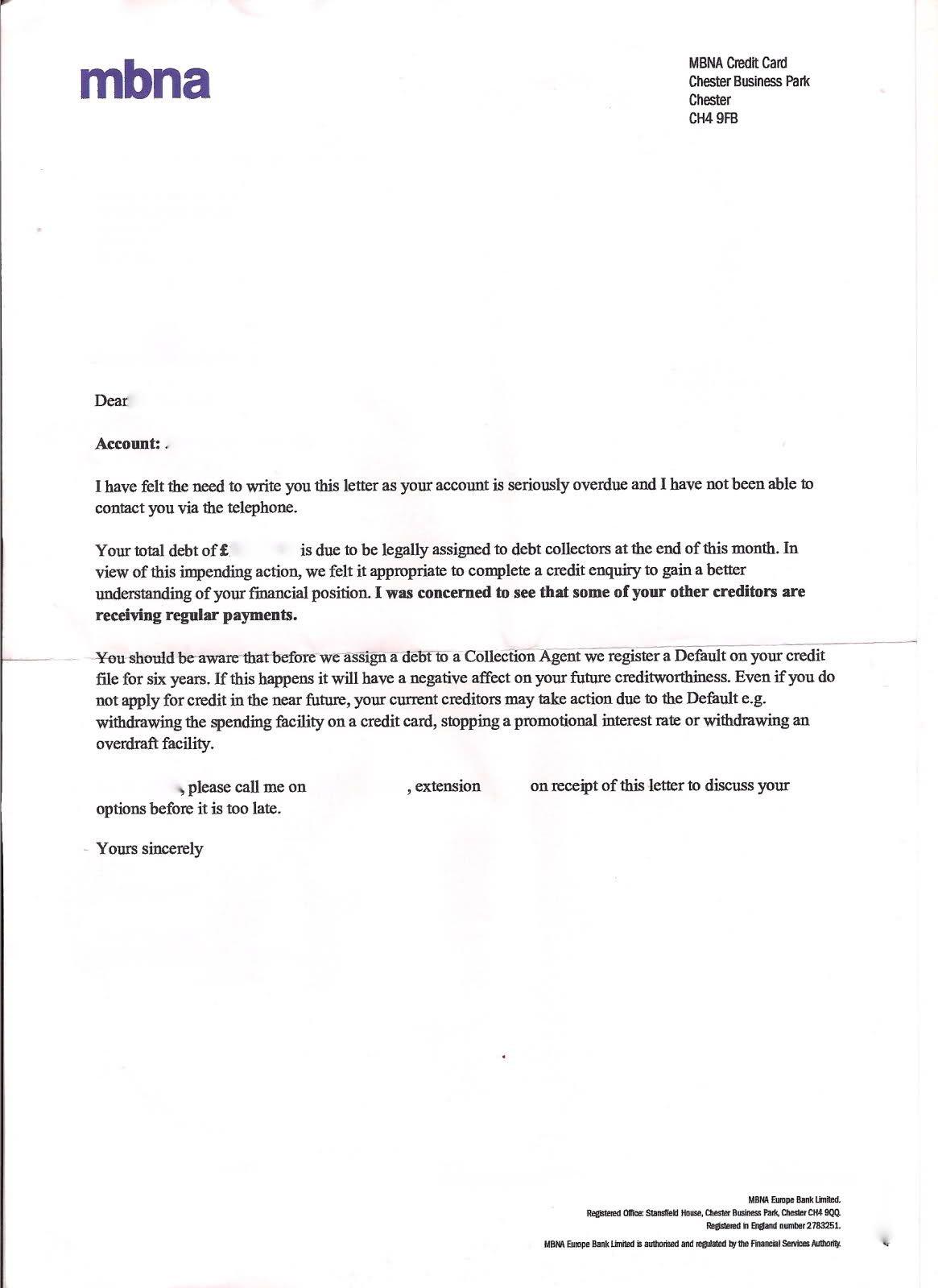 Ppi Claim Letter Sample Compensation Personal Service Complaint