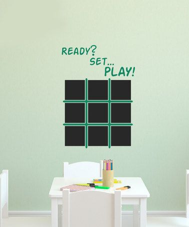 Look what I found on #zulily! Green 'Ready Set Play' X's & O's Decal Set #zulilyfinds