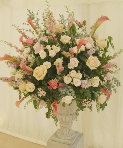 Floral Urns For Weddings: Stone Urn For Church Flowers