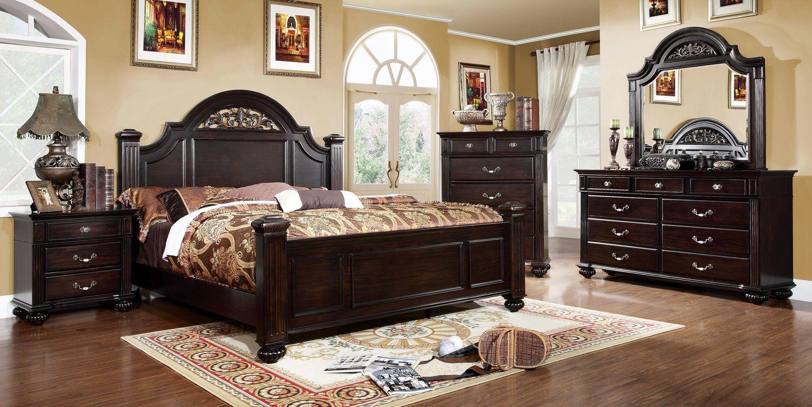 Wesleyan Standard Configurable Bedroom Set Brown Furniture