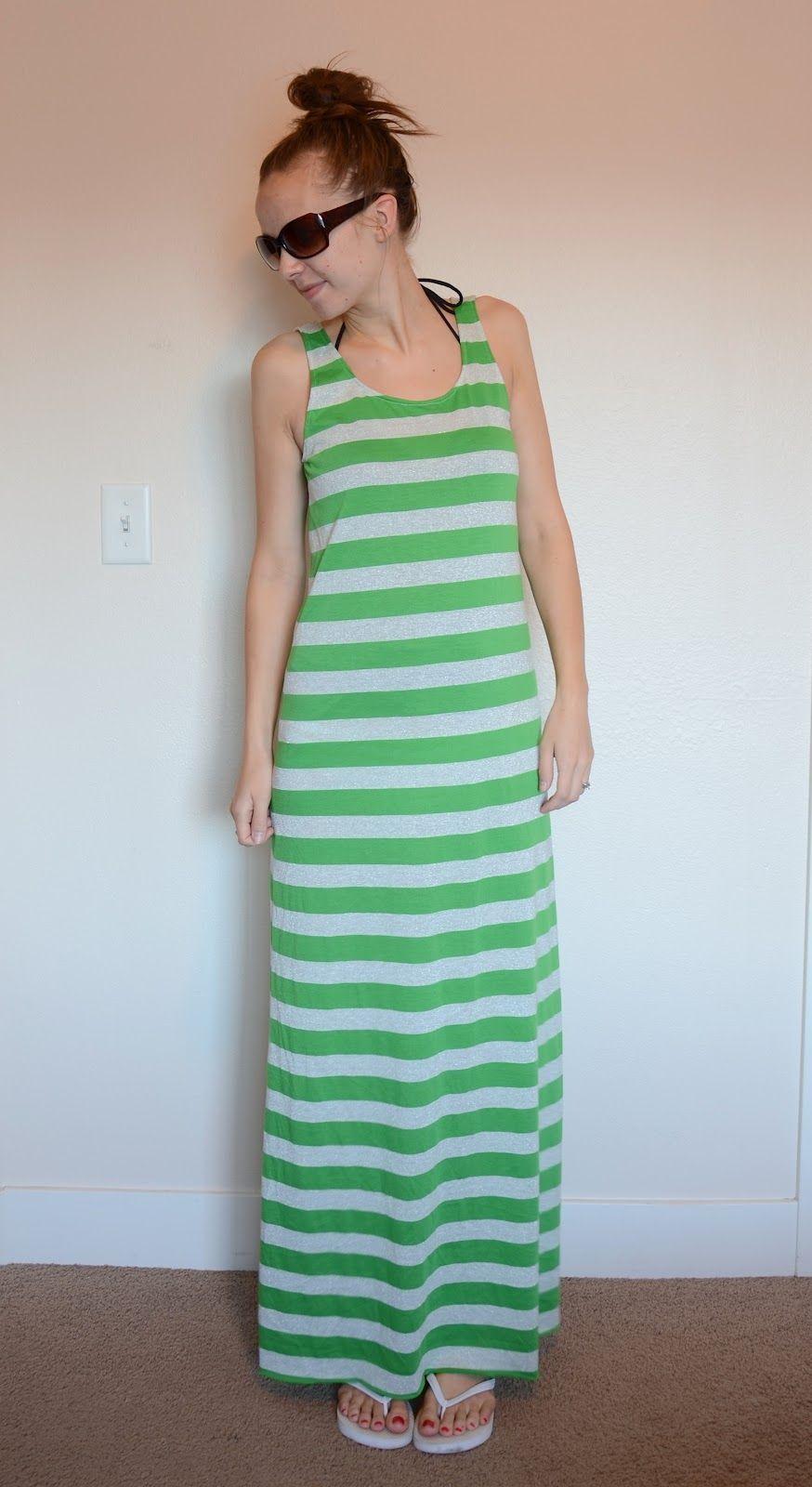 Swimsuit coverup maxi dress tutorial
