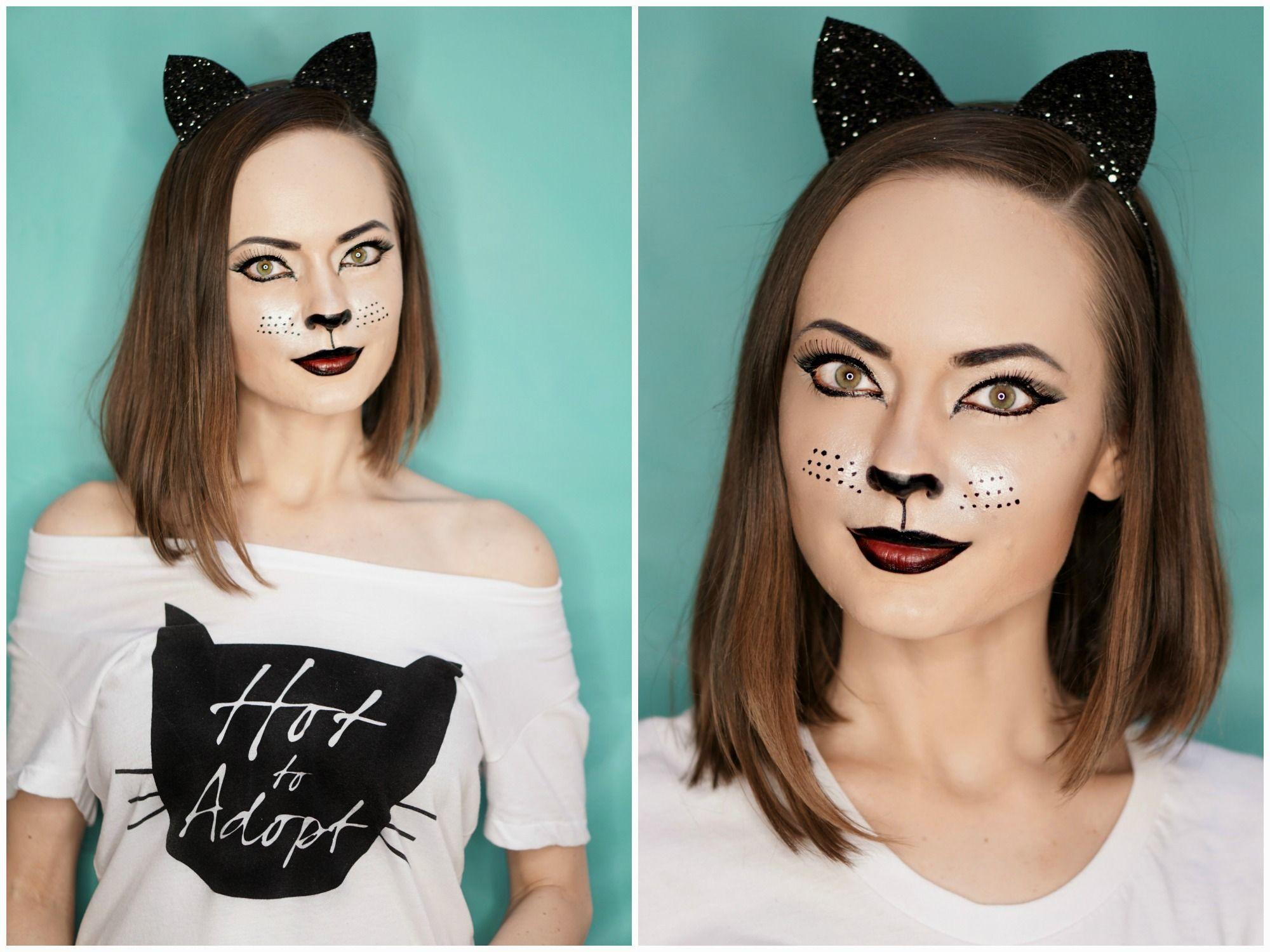Cat Makeup Easy To Repeat Halloween Makeup Tutorial Cat Makeup Halloween Makeup Tutorial Easy Halloween Makeup Tutorial