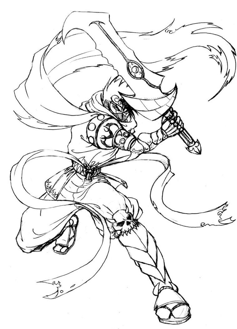 Ninja Coloring Pages Free What do we think when we hear