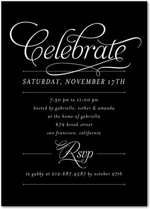 Regal Request Corporate Event Invitations In Black Petite Alma