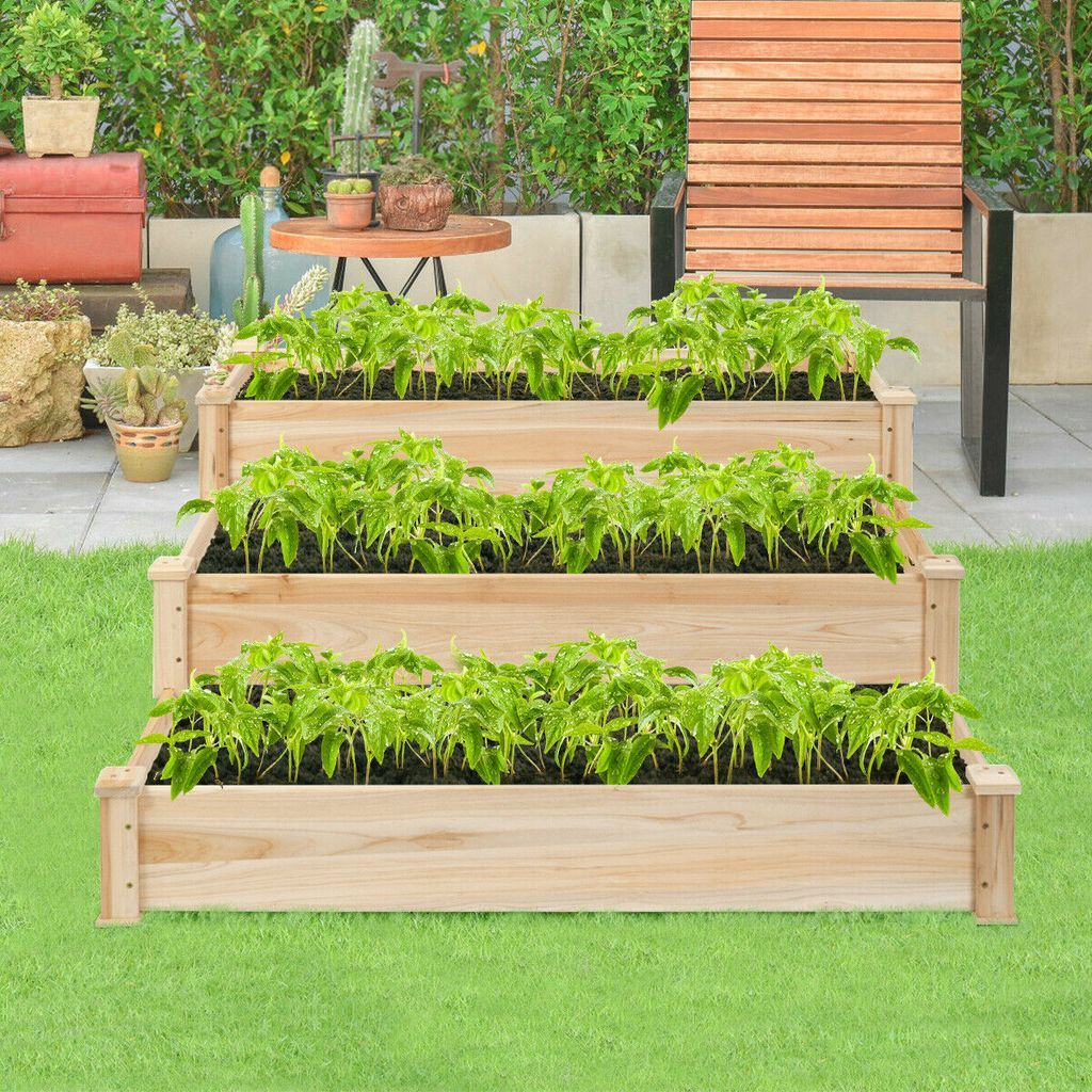 25 Ideas To Improve Your Garden With Raised Garden Bed Vegetable Garden Raised Beds Garden Beds Vegetable Planters