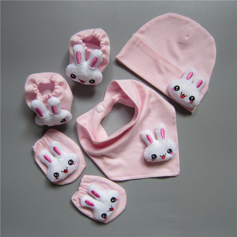 4Pcs Soft Cotton Anti Scratch Mittens Gloves for Newborn Baby Boys Girls Infant