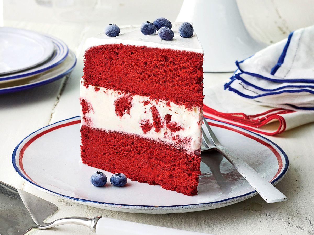 Regal Ivory Red Velvet Wedding Cake