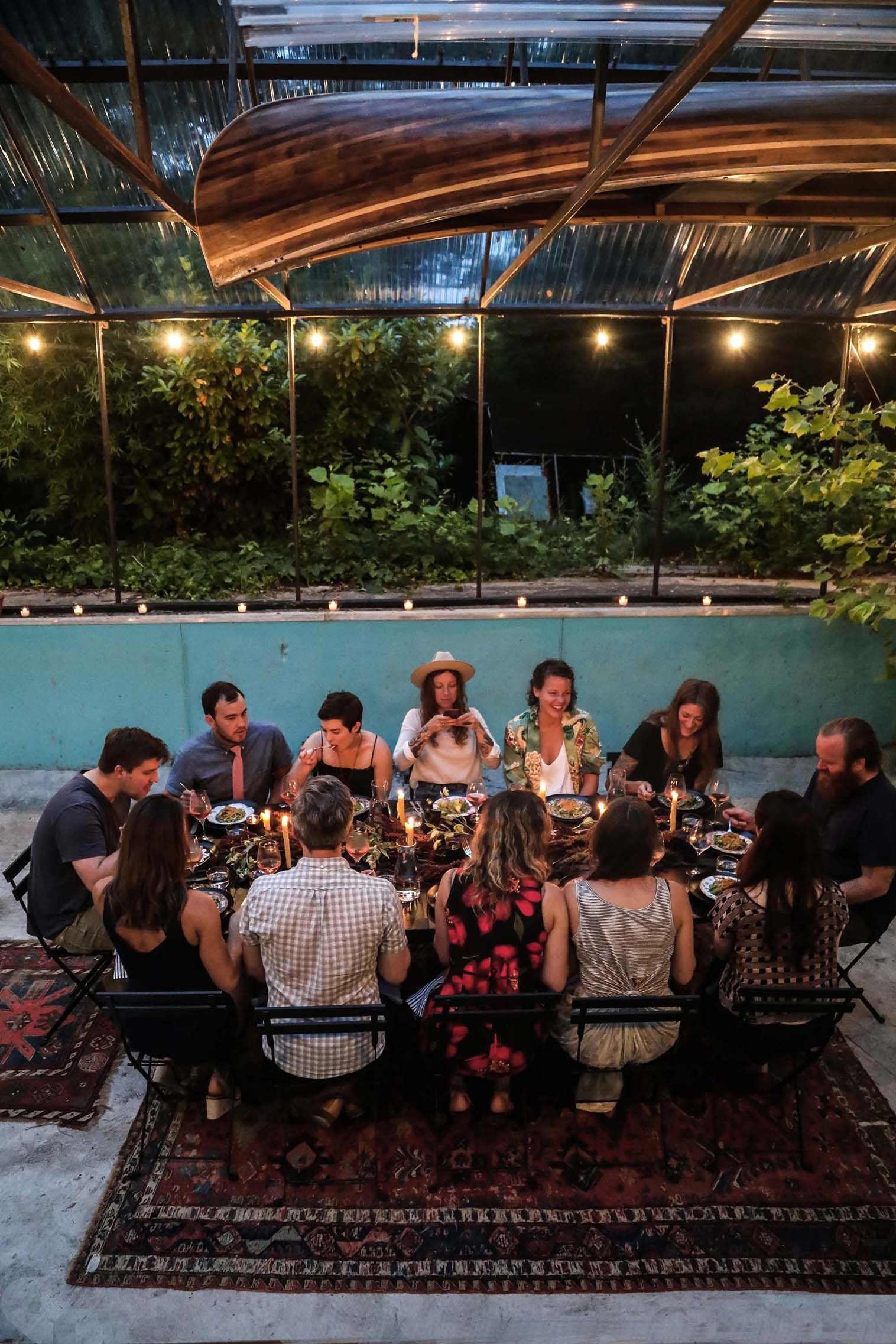 This Dinner Party Took Place in an Empty Pool  8341d6859b
