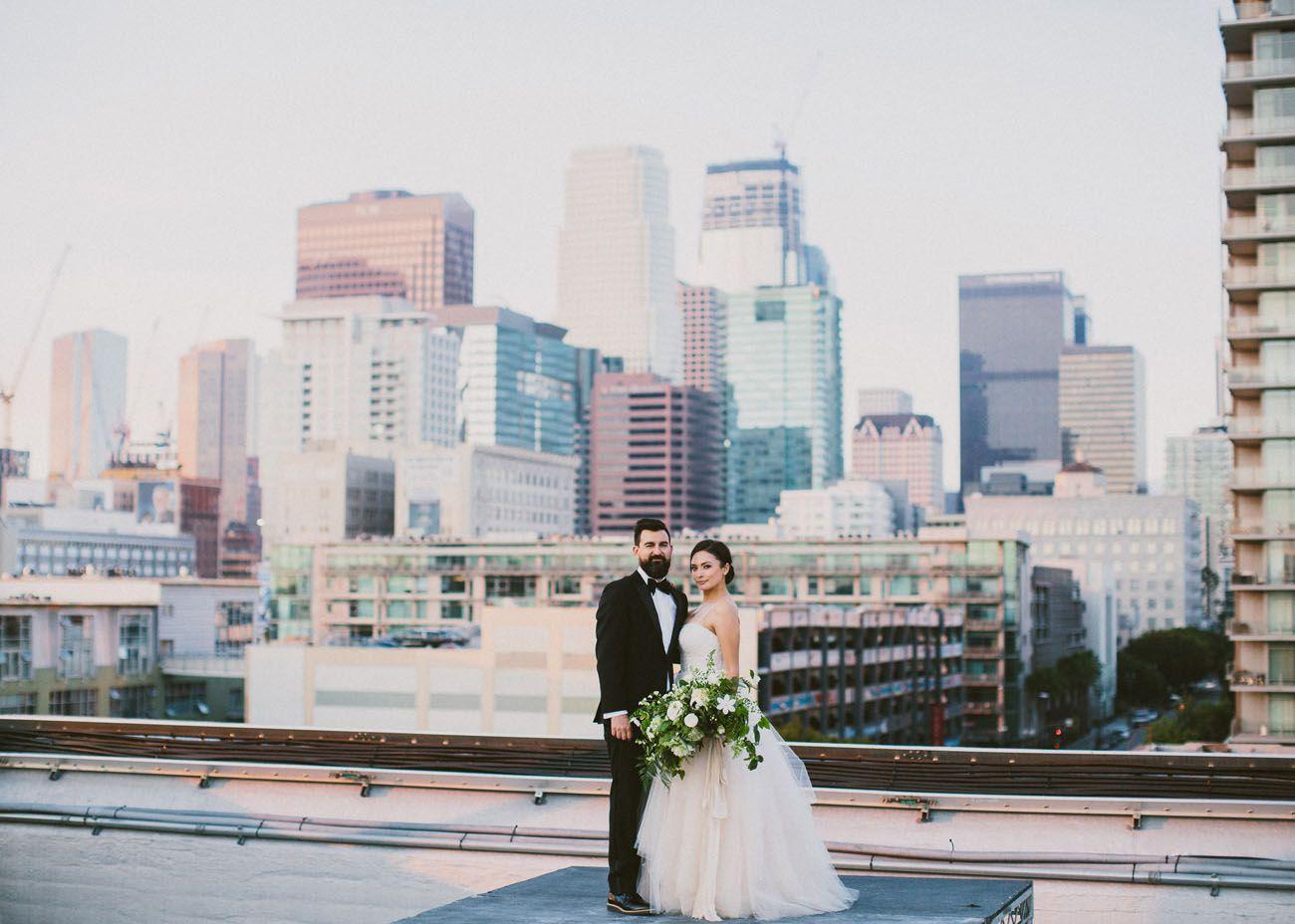 modern loft wedding in downtown los angeles: andrea + cory