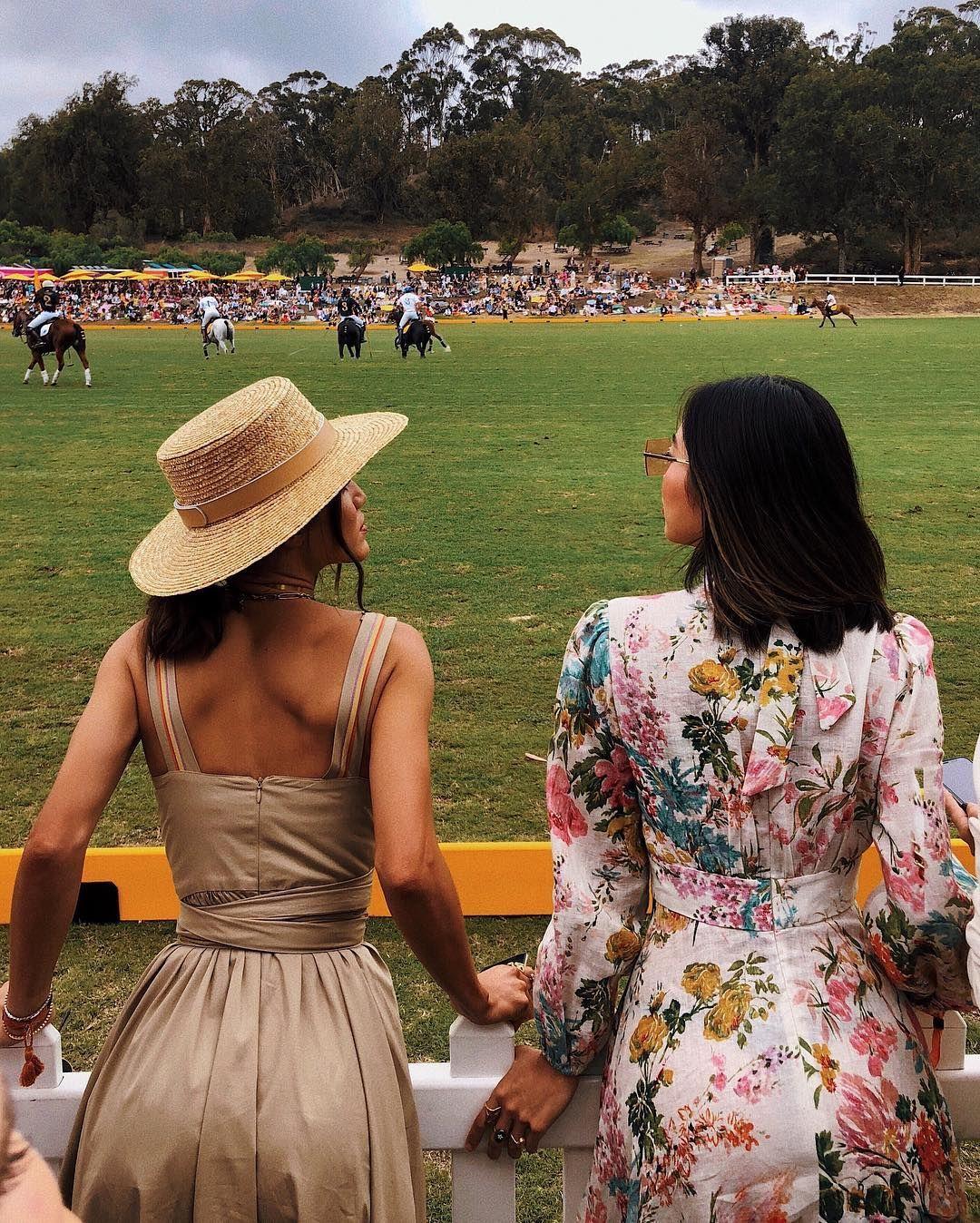 pretty woman dress at polo match