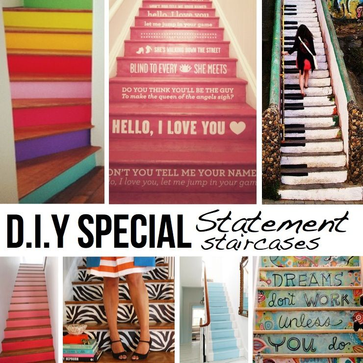 4 Diy Decorating Ideas For A Staircase: Stare At This Great Use Of Interior And Exterior