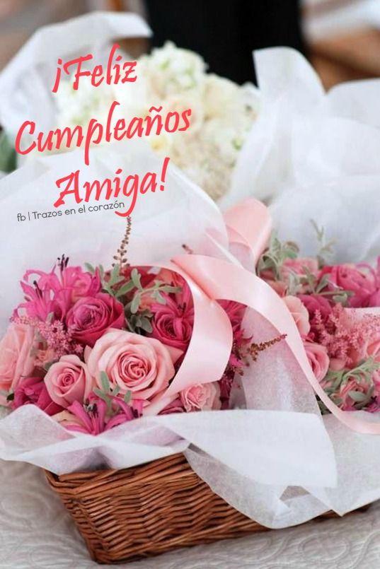 Imagenes con rosas de feliz cumpleanos para una amiga