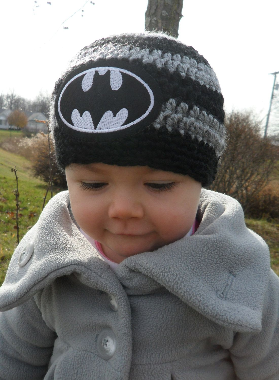 Handmade Baby Batman Crochet hat | Batman Baby | Pinterest | Rund ...
