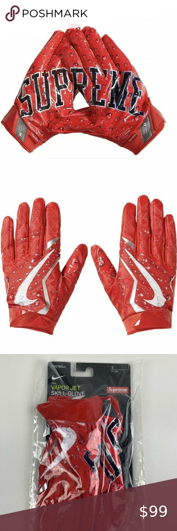 Authentic Supreme Nike Vapor Football Gloves In 2020 Nike Vapor Football Gloves Gloves
