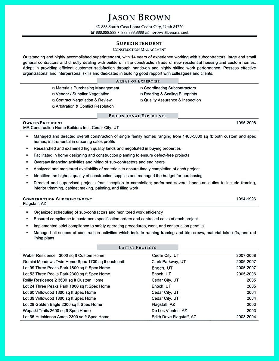 Cool Perfect Construction Manager Resume To Get Approved  Resume