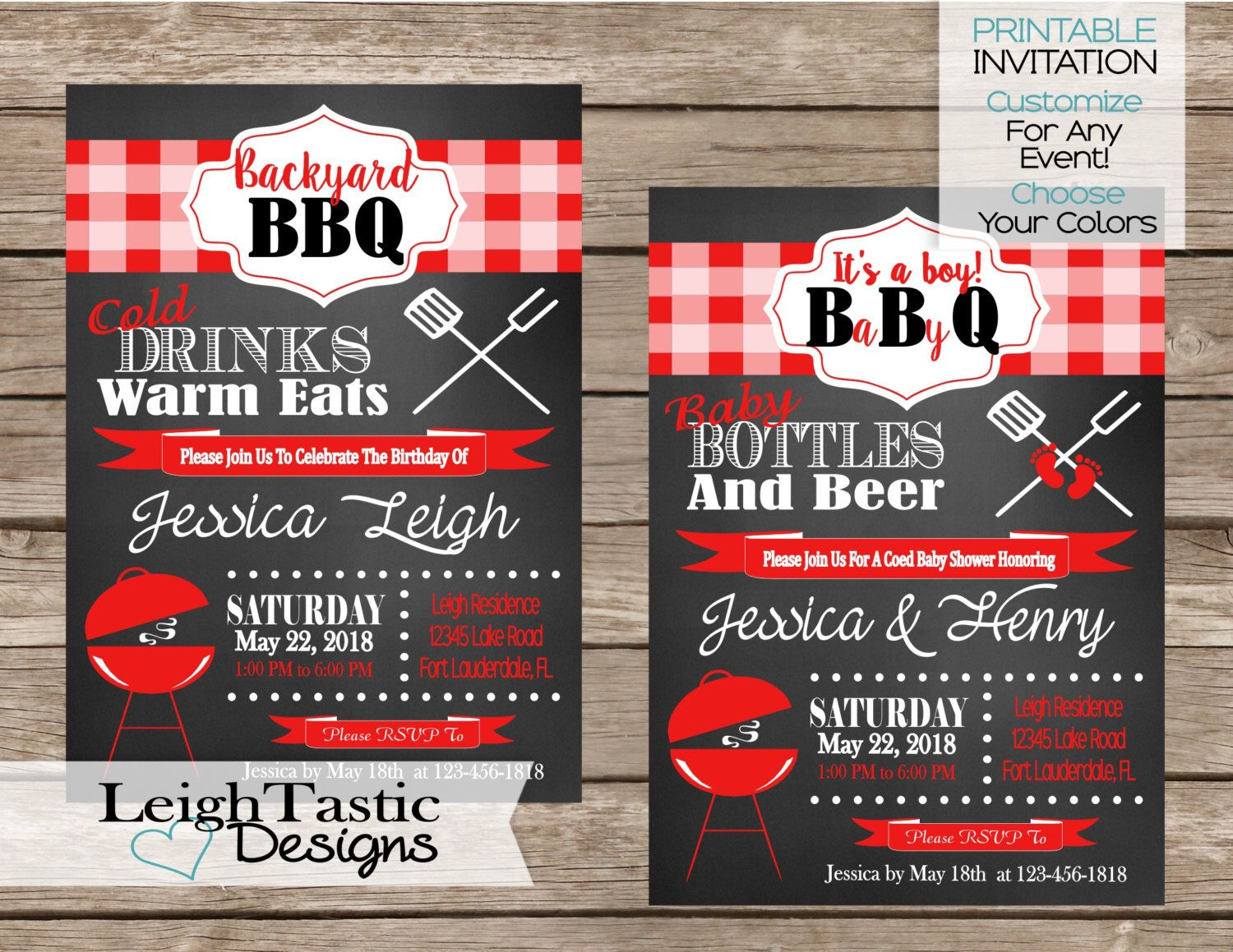Printable BBQ Invitation, I Do BBQ, Baby Q, Family Reunion, Barbeque ...
