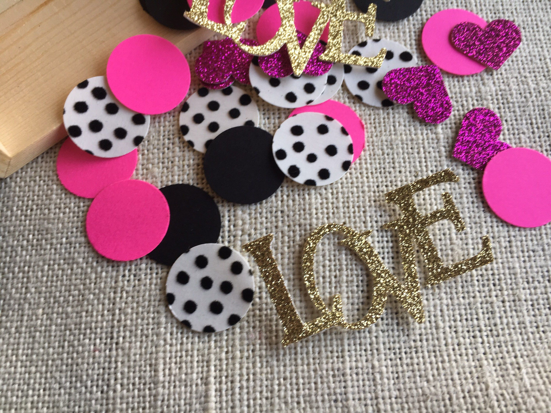 Kate Spade Inspired Confetti, Kate Spade Inspired Bridal Confetti, Kate