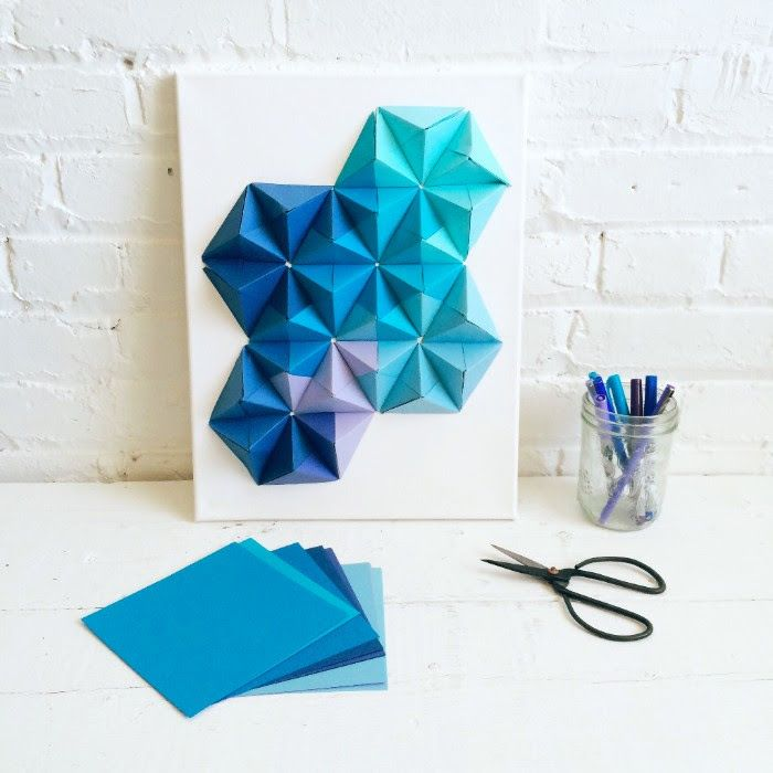 Origami wall art pinteres for Decoration origami