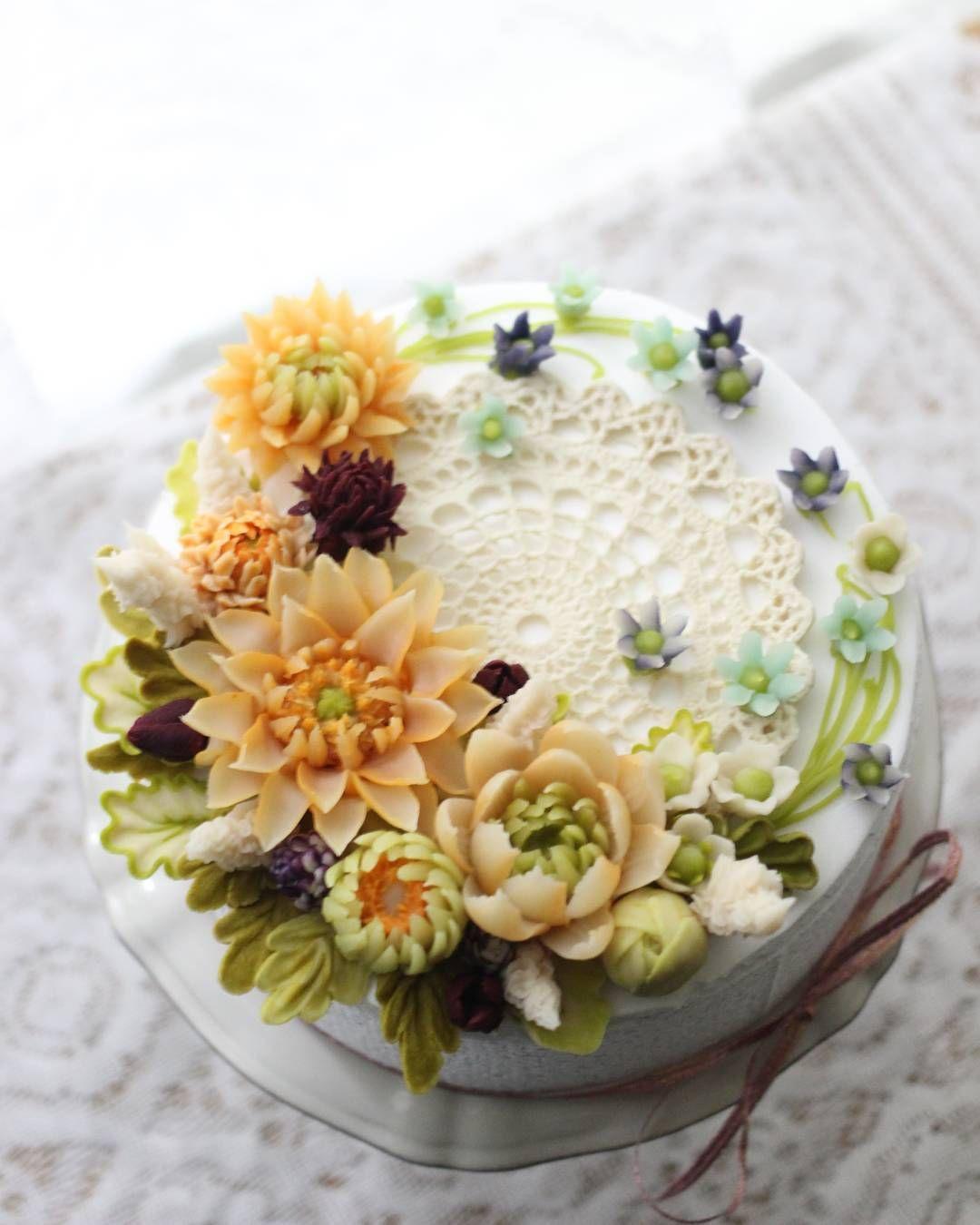 Beauty Full Flower Cake Cakes Pinterest Cake Flower And