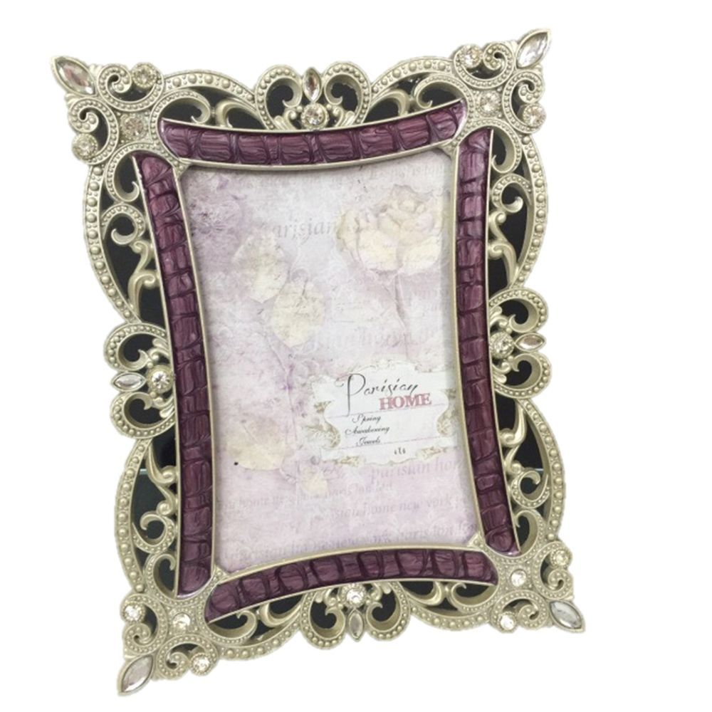 Sheffield Home Picture Frame Rectangle Rhinestone Jeweled Matte ...