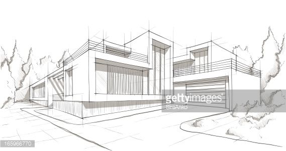 Futuristic Empty Room 3d Rendering Draw Architecture Design