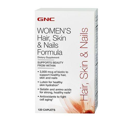 GNC Hair, Skin & Nails Formula 120 count (no collegen) 3,000 mcg of ...