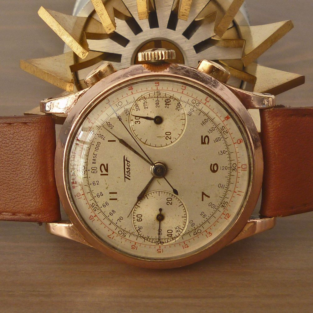 Details about 1940 39 s tissot swiss gorgeous vintage chronograph watch rare lemania cal 15tl in for Celebrity tissot watch