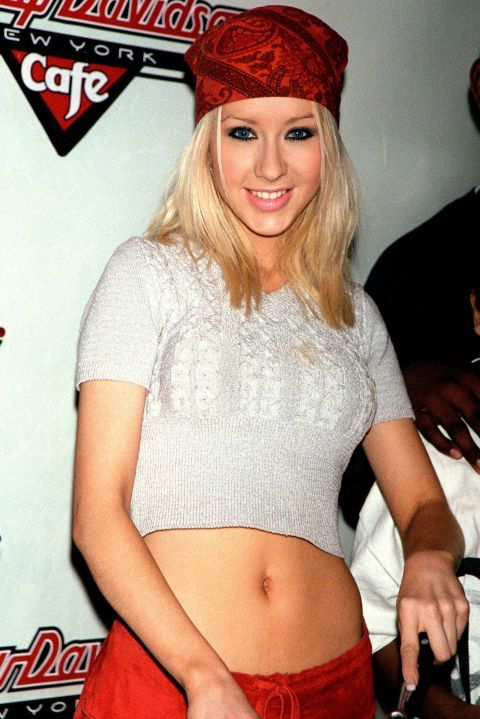 The 90s Fashion Trends Bandana\u2014Then Christina Aguilera, 1999
