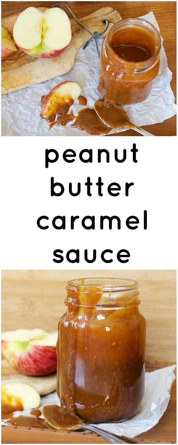 Ooey gooey peanut butter caramel sauce. Would be so good on apples.  | from Claire Brody Designs