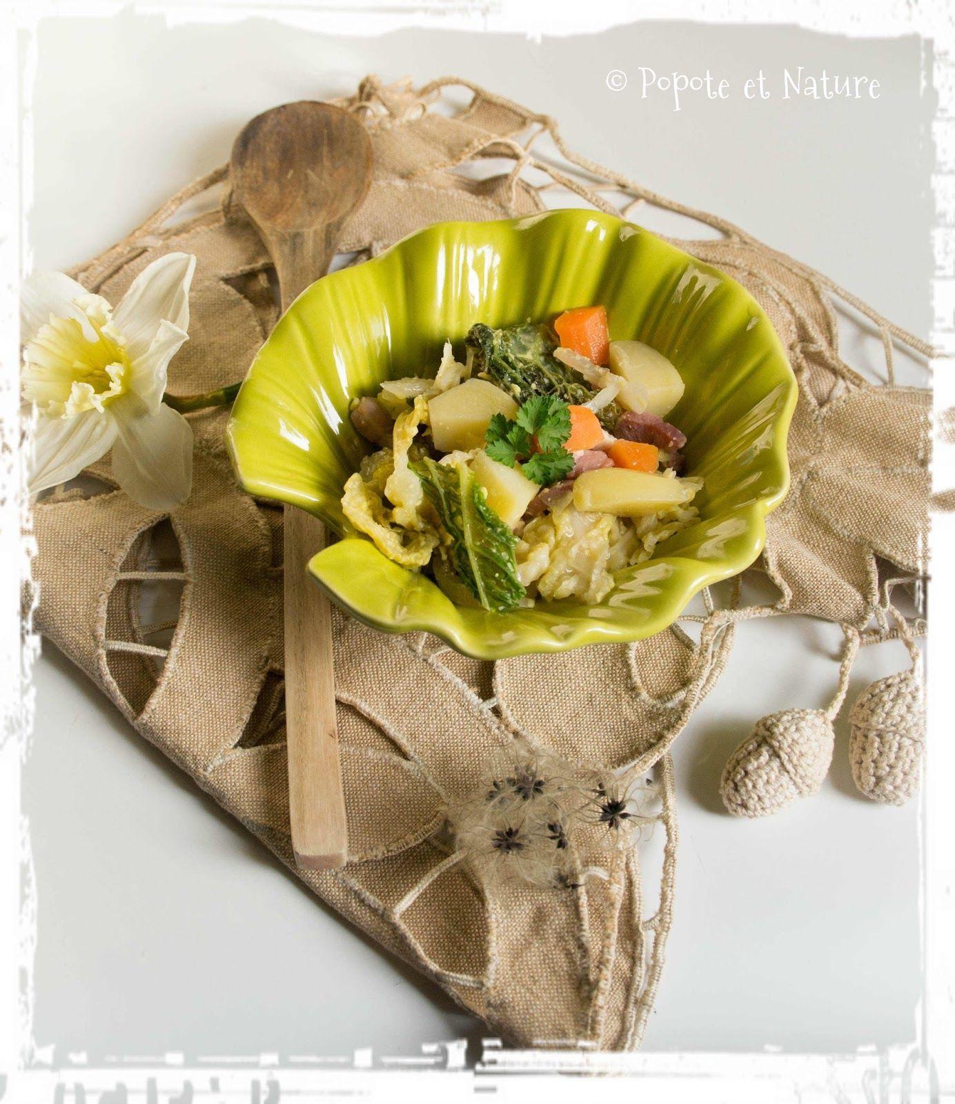Fausse potée légère au chou vert  © Popote et Nature #poteechouvert