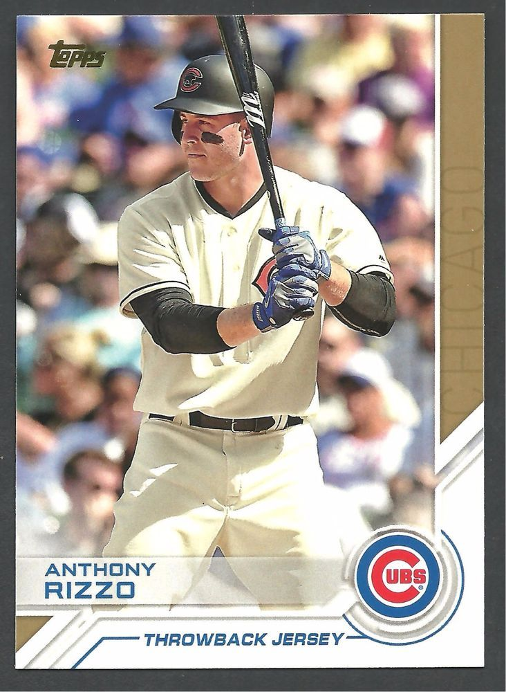 2017 Topps Salute Anthony Rizzo Throwback Jersey Card S 44 Cubs