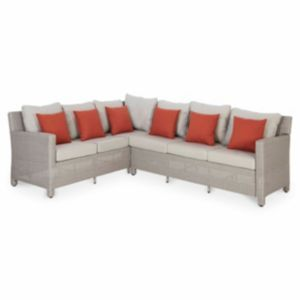 Praslin Rattan Sofa Of 2grey Rattan Sofa Sofa Outdoor Sectional Sofa