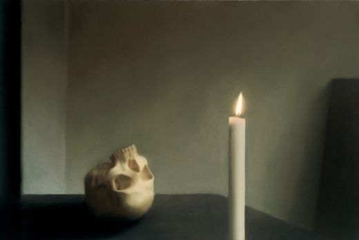 Gerhard Richter, Skull with candle, 1983 (painting)