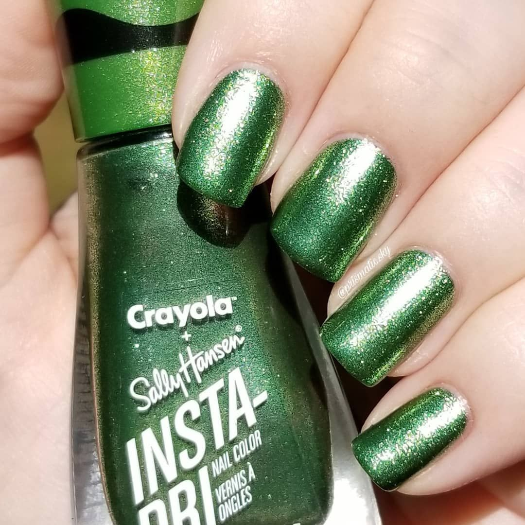 Sally Hansen Insta Dri Crayola Glam Rock Sheen Green With