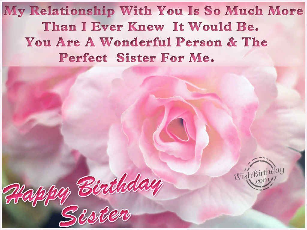 Happy Birthday Wishes Sister Quotes – Birthday Greeting for Sister