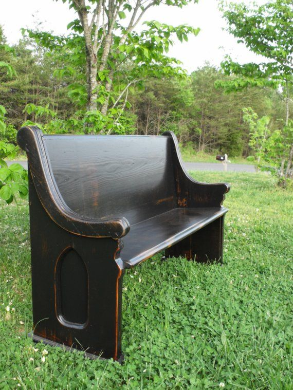 Astounding 62 Black Wooden Church Pew In 2019 Church Pew Bench Pew Andrewgaddart Wooden Chair Designs For Living Room Andrewgaddartcom