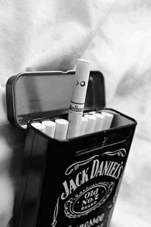 I Just Like The Tin Metal Jack Daniels Cigarette Box SheWolf