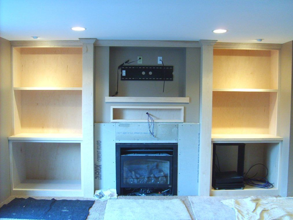Mounting Flat Screen Above Fireplace Mantel With Flatscreen Tv Finish Carpentry Contractor