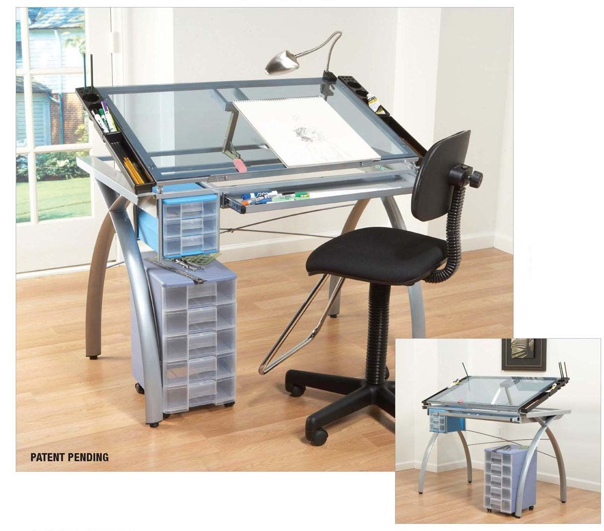 Glass_top_large Jpg 1 200 1 055 Pixels Drafting Tables  # Muebles Tubulares Ponce