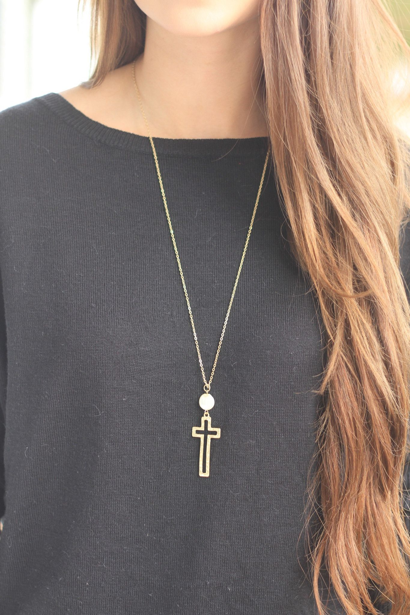 Long Cross Necklace