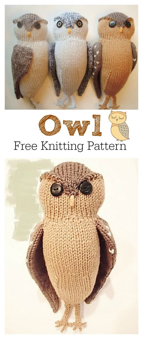 Adorable Puff Owl Free Knitting Pattern | Knitting patterns, Owl and ...