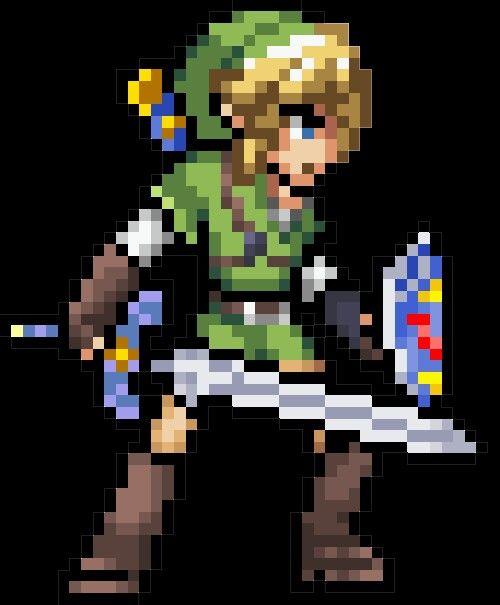 Link Pixel Art, Pixel Art Games