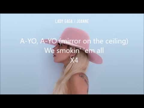 Lady Gaga Ayo Lyrics Joanne Youtube With Images Lady
