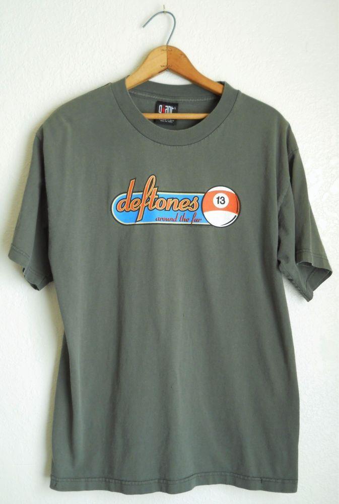 773a7ff0826c Vtg Deftones Around the Fur 1998 Concert T-Shirt Large L Tour #Giant  #GraphicTee #Casual