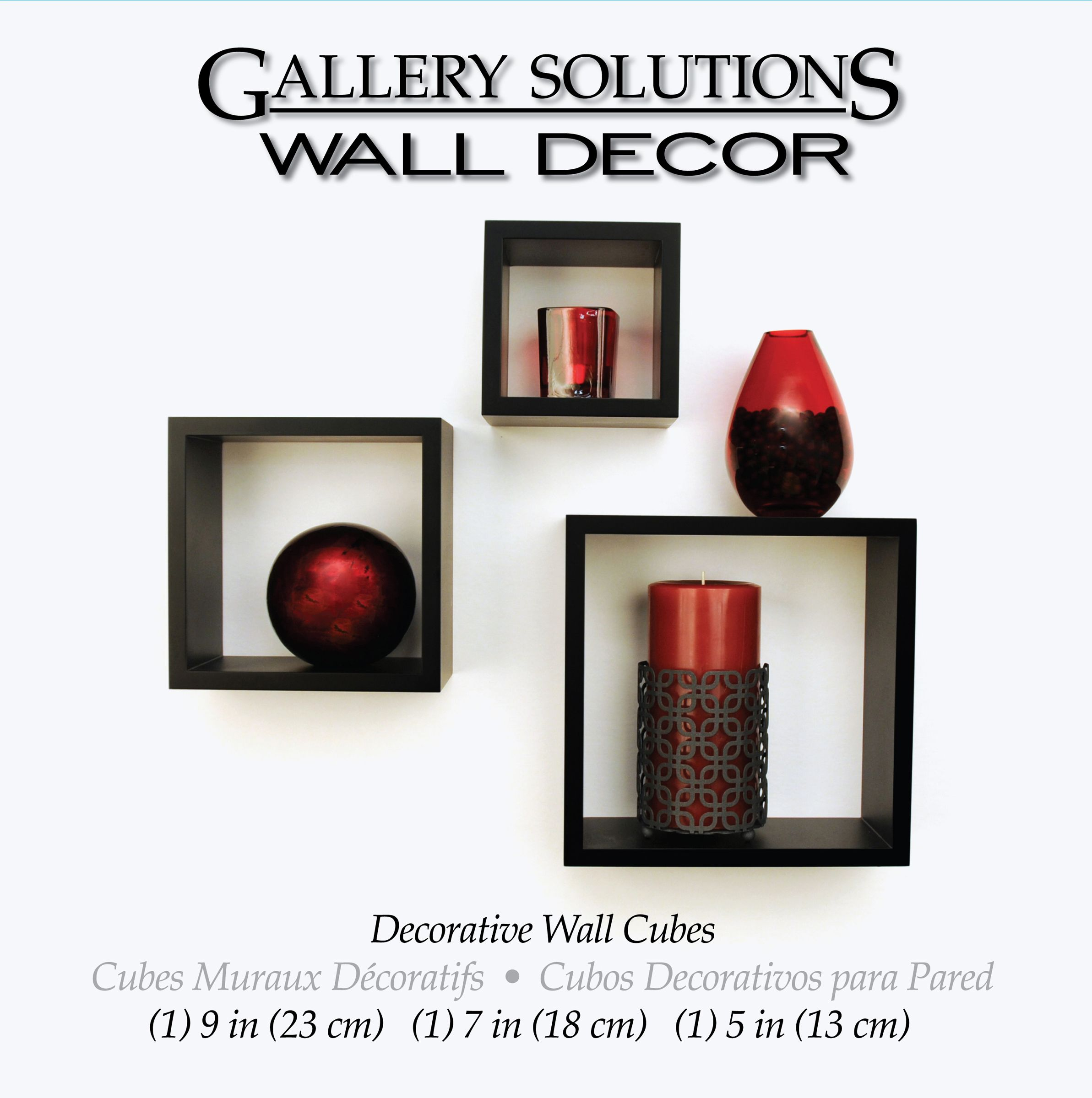 Gallery Solutions Black Decorative Wall Cubes Products Pinterest