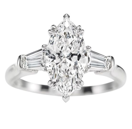 marquee rings   Harry Winston Marquise Ring. Baguette ...